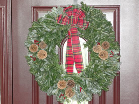 deluxe christmas wreath image