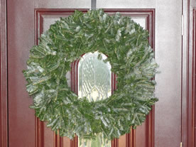 natural christmas wreath image